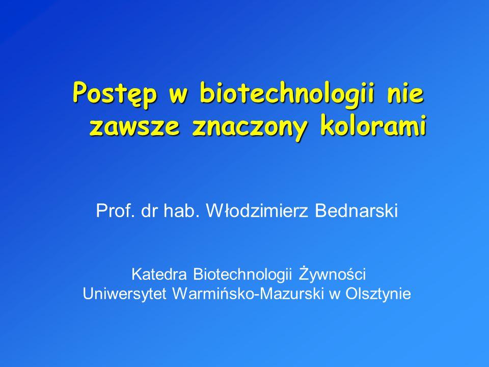 Postęp w biotechnologii nie zawsze znaczony kolorami