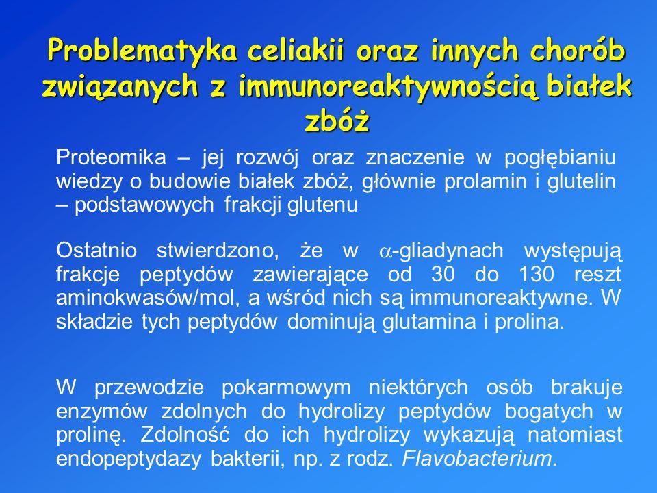 Problematyka celiakii oraz innych chorób związanych z immunoreaktywnością białek zbóż