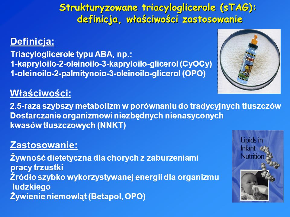 Strukturyzowane triacyloglicerole (sTAG):