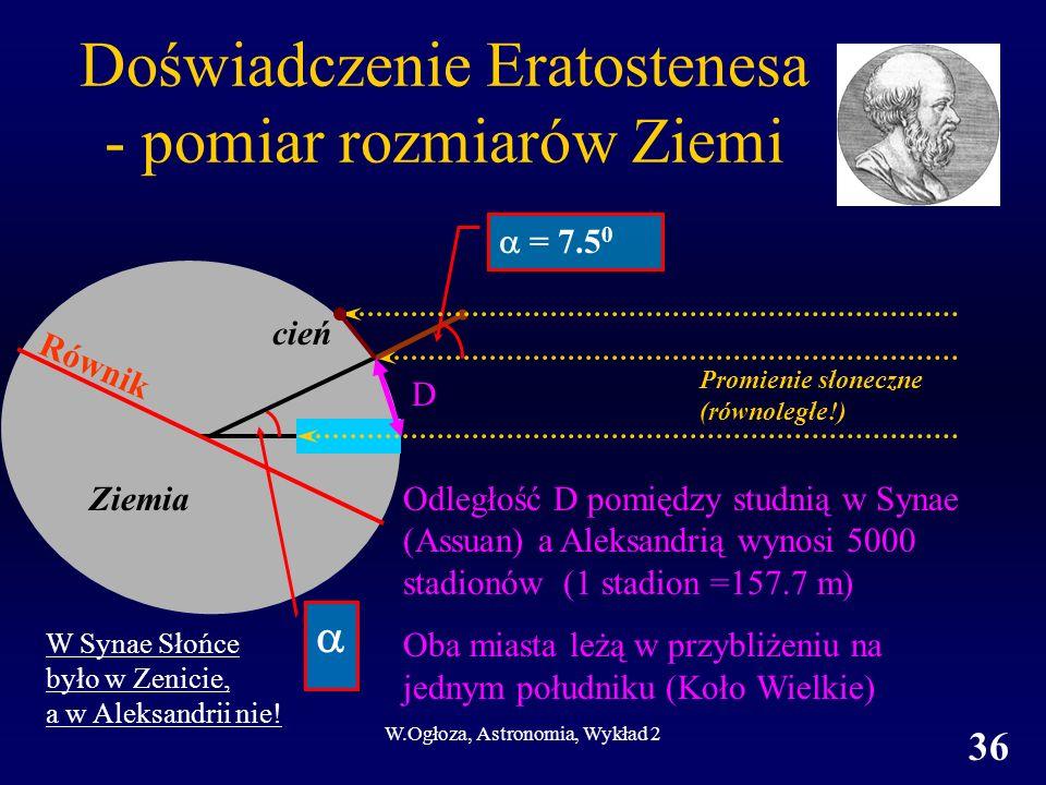 Doświadczenie Eratostenesa - pomiar rozmiarów Ziemi