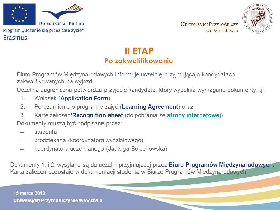 II ETAP Po zakwalifikowaniu