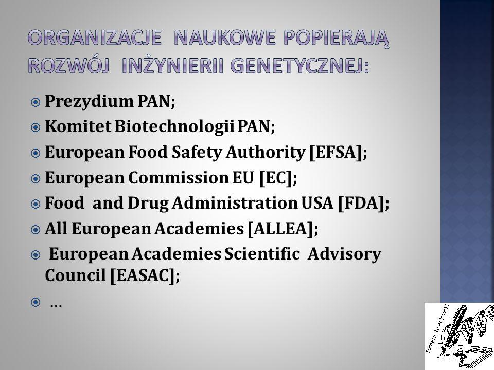 Organizacje naukowe popierają rozwój inżynierii genetycznej: