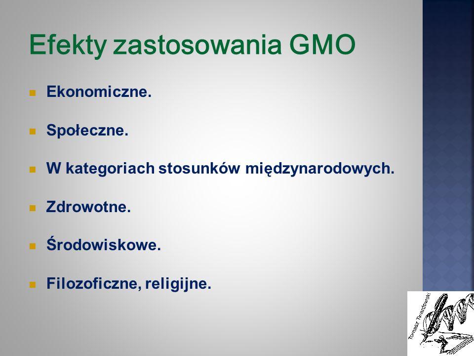 Efekty zastosowania GMO