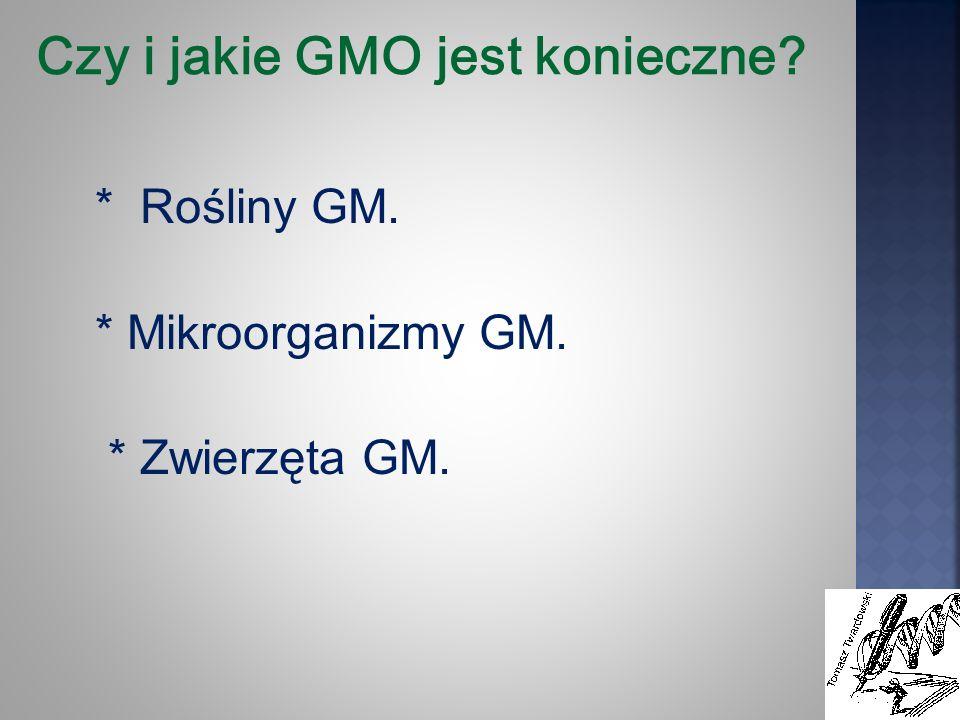 Czy i jakie GMO jest konieczne
