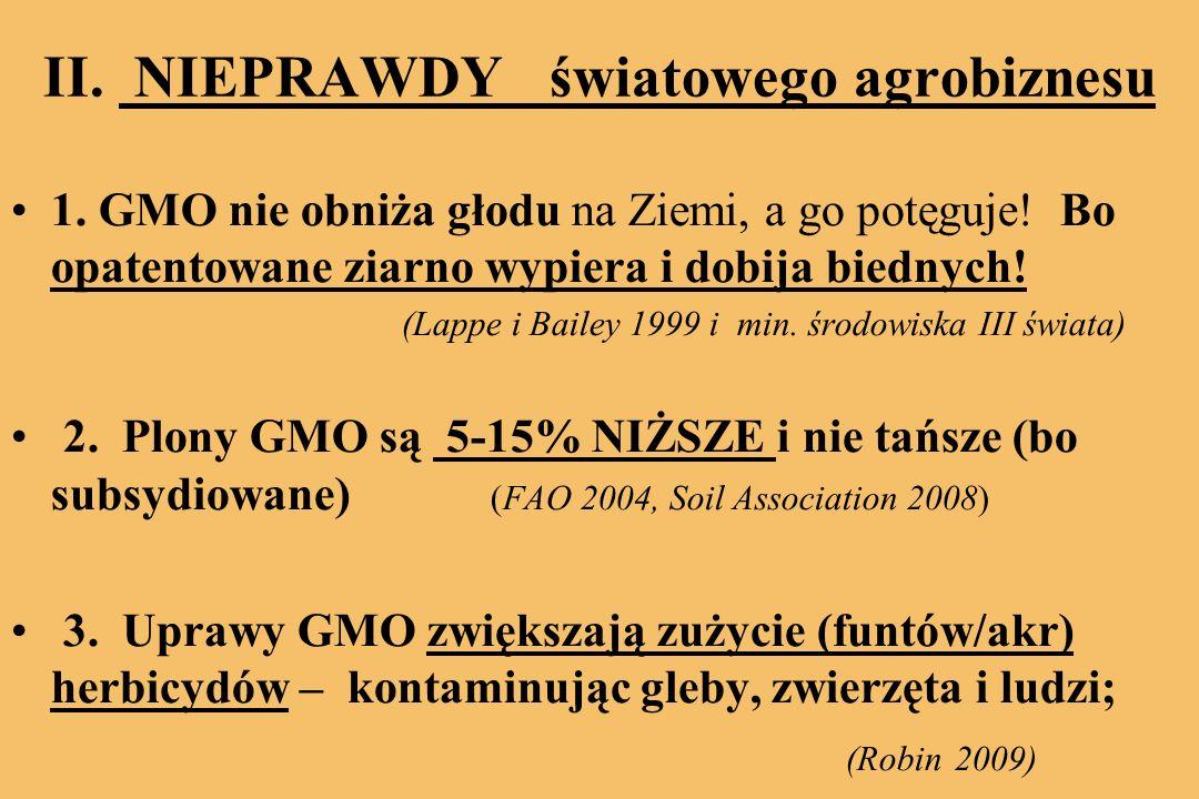 II. NIEPRAWDY światowego agrobiznesu