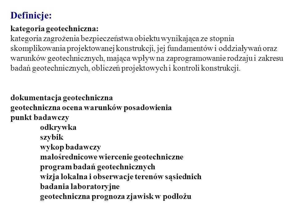 Definicje: kategoria geotechniczna:
