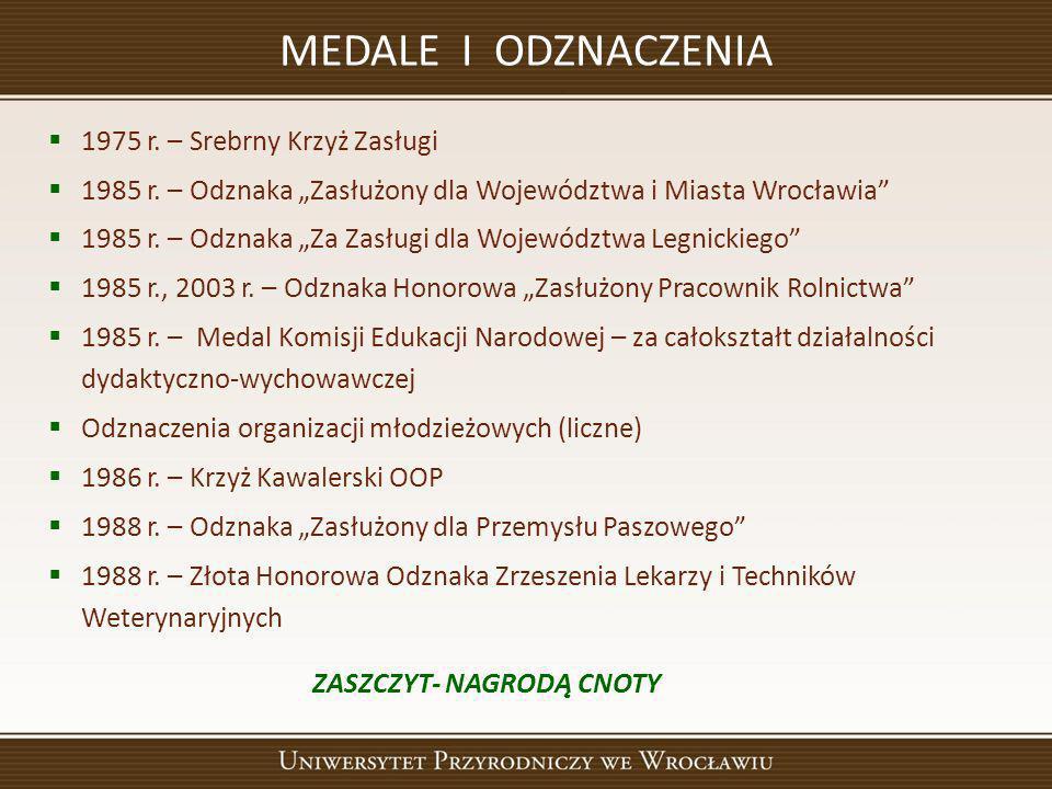 MEDALE I ODZNACZENIA 1975 r. – Srebrny Krzyż Zasługi