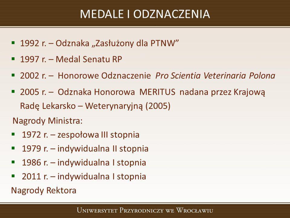 """MEDALE I ODZNACZENIA 1992 r. – Odznaka """"Zasłużony dla PTNW"""