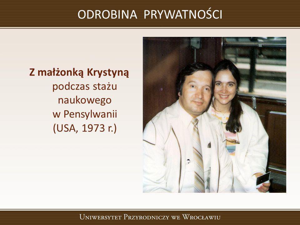 ODROBINA PRYWATNOŚCI Z małżonką Krystyną podczas stażu naukowego w Pensylwanii (USA, 1973 r.)