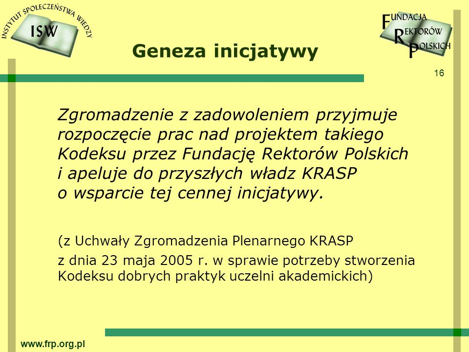 Geneza inicjatywy