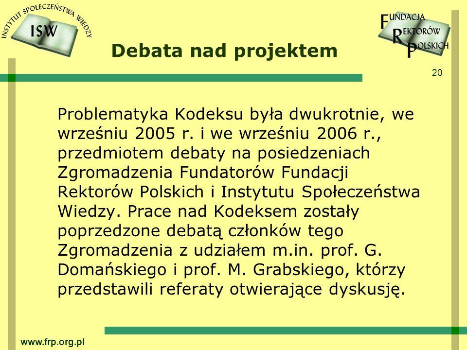 Debata nad projektem