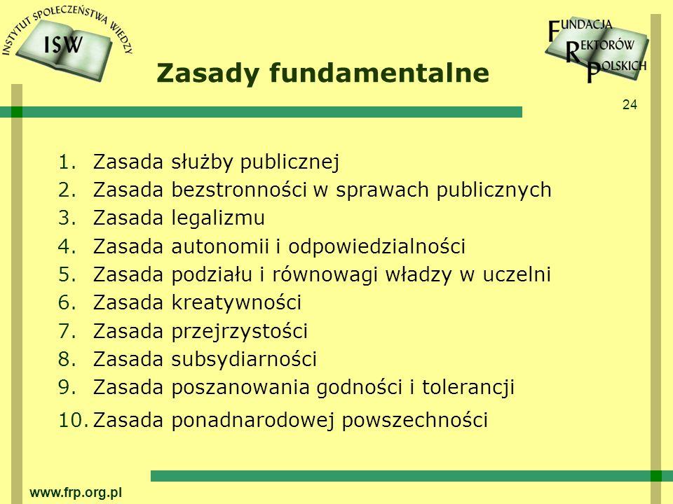 Zasady fundamentalne Zasada służby publicznej