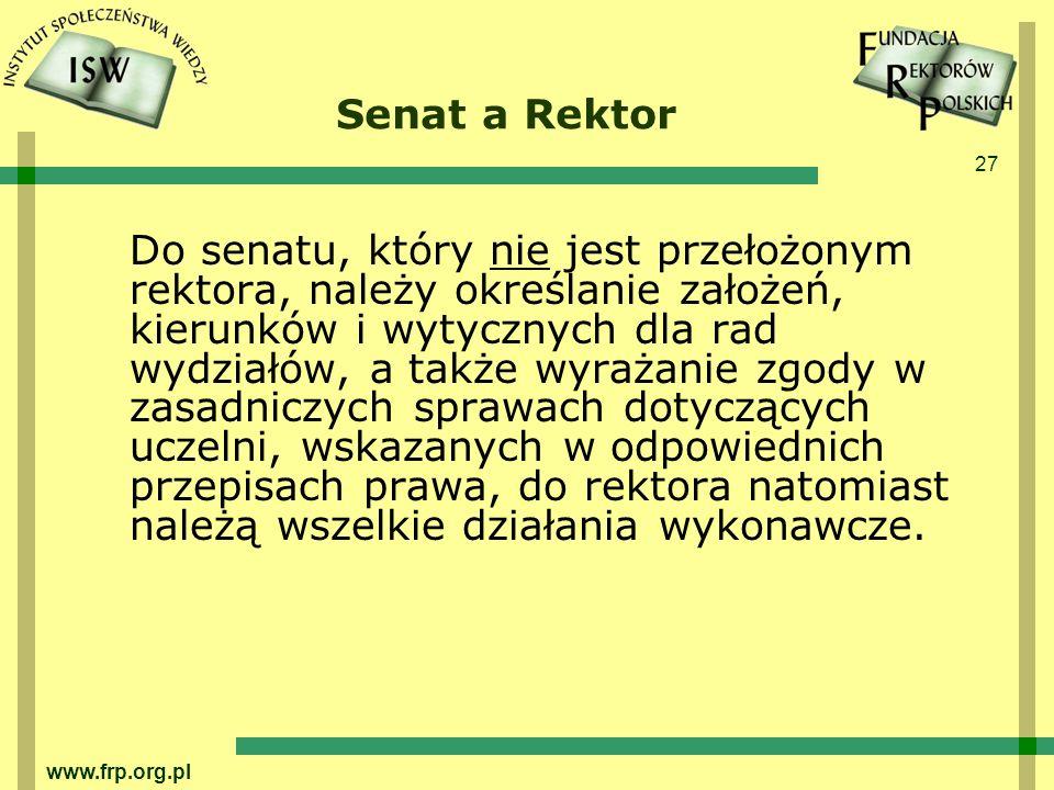Senat a Rektor