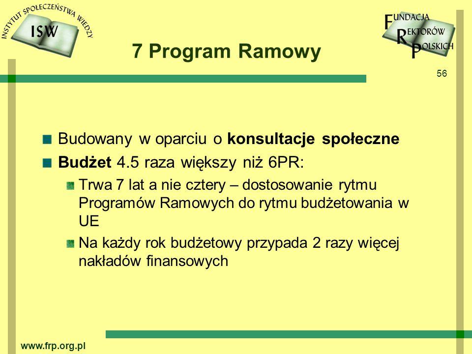 7 Program Ramowy Budowany w oparciu o konsultacje społeczne