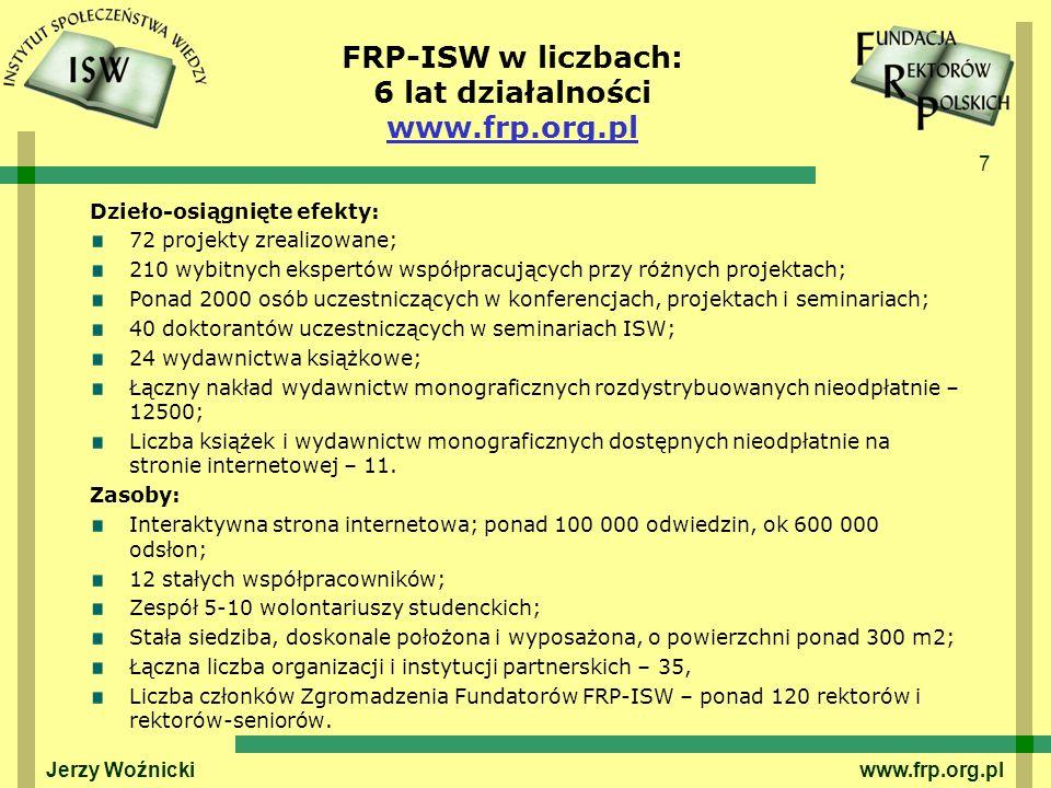 FRP-ISW w liczbach: 6 lat działalności www.frp.org.pl