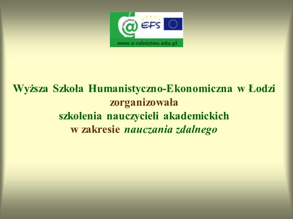 Wyższa Szkoła Humanistyczno-Ekonomiczna w Łodzi zorganizowała szkolenia nauczycieli akademickich w zakresie nauczania zdalnego