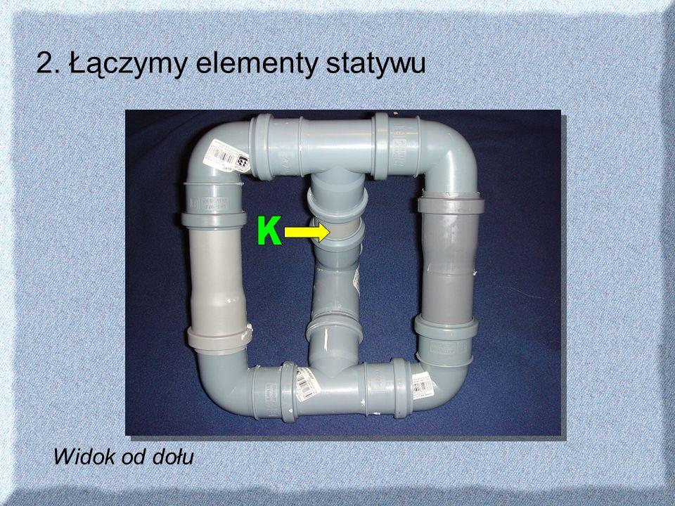 2. Łączymy elementy statywu