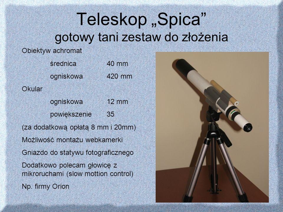 """Teleskop """"Spica gotowy tani zestaw do złożenia"""
