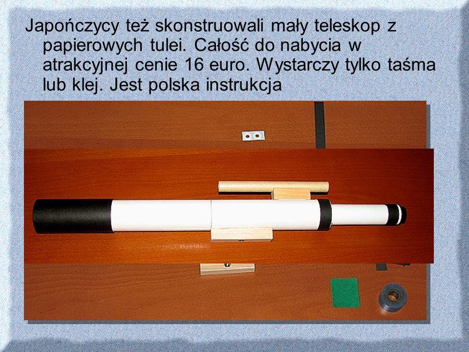 Japończycy też skonstruowali mały teleskop z papierowych tulei