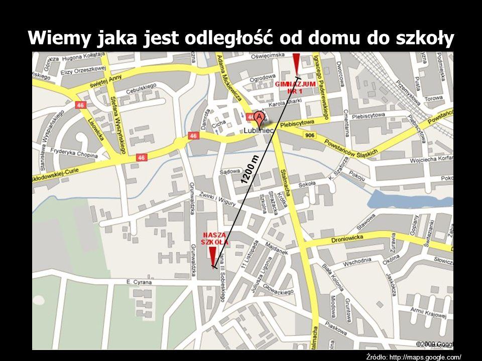 Wiemy jaka jest odległość od domu do szkoły