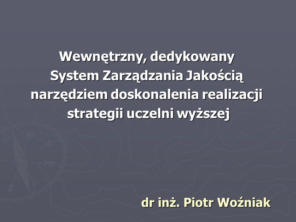 Wewnętrzny, dedykowany System Zarządzania Jakością