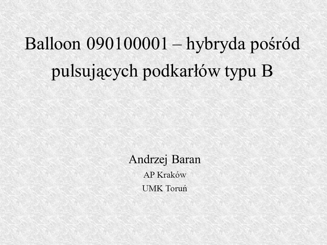Balloon 090100001 – hybryda pośród pulsujących podkarłów typu B
