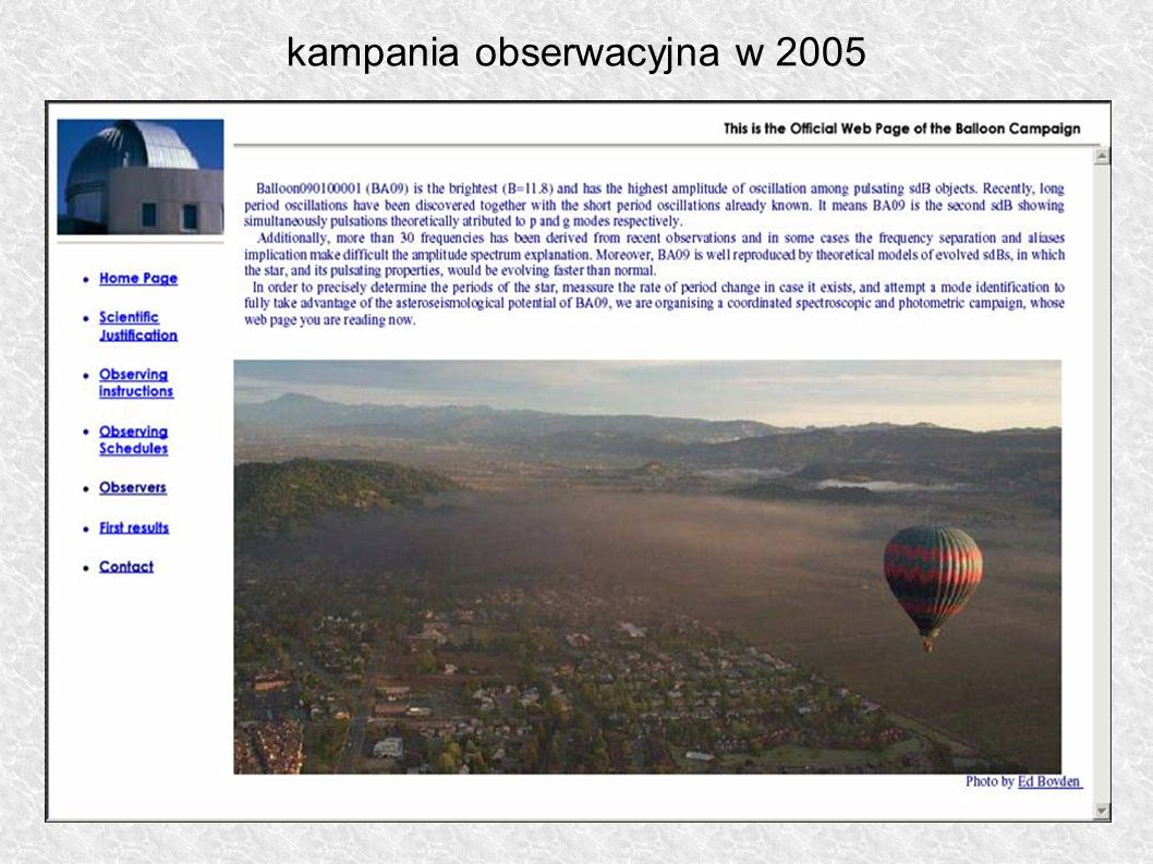 kampania obserwacyjna w 2005