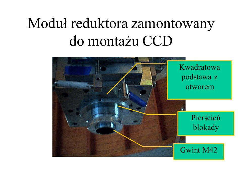 Moduł reduktora zamontowany do montażu CCD