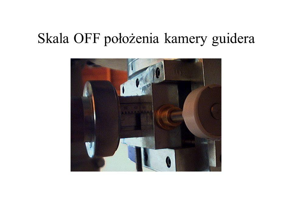 Skala OFF położenia kamery guidera