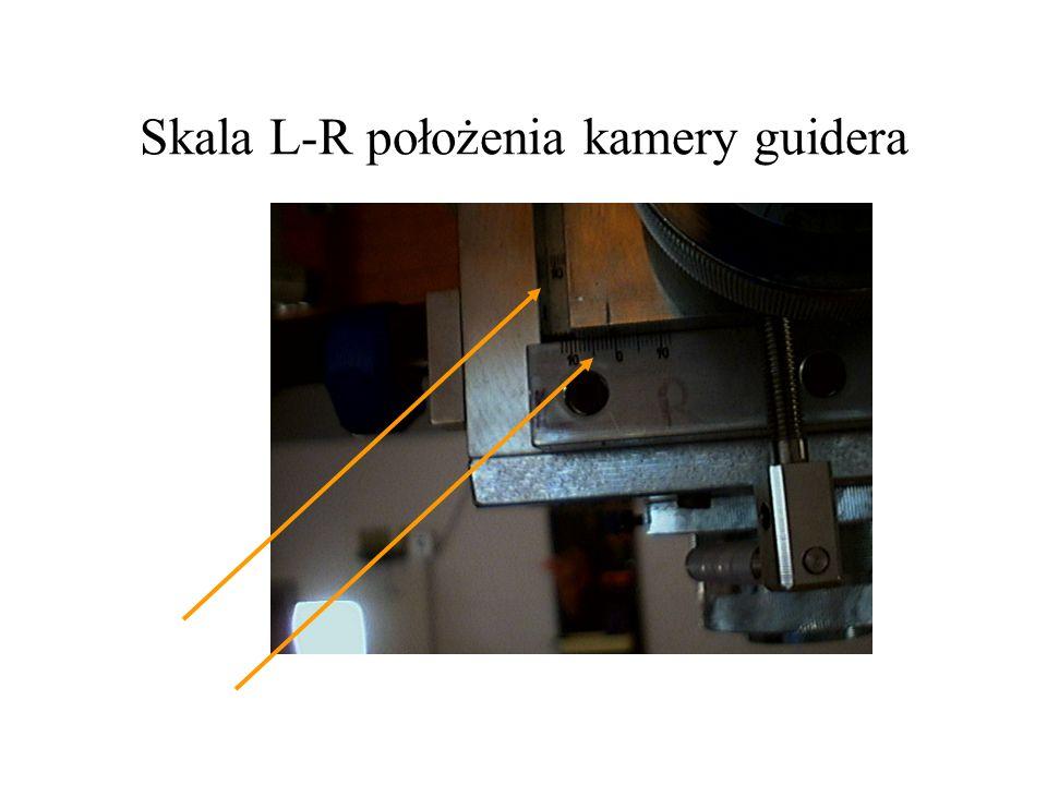 Skala L-R położenia kamery guidera