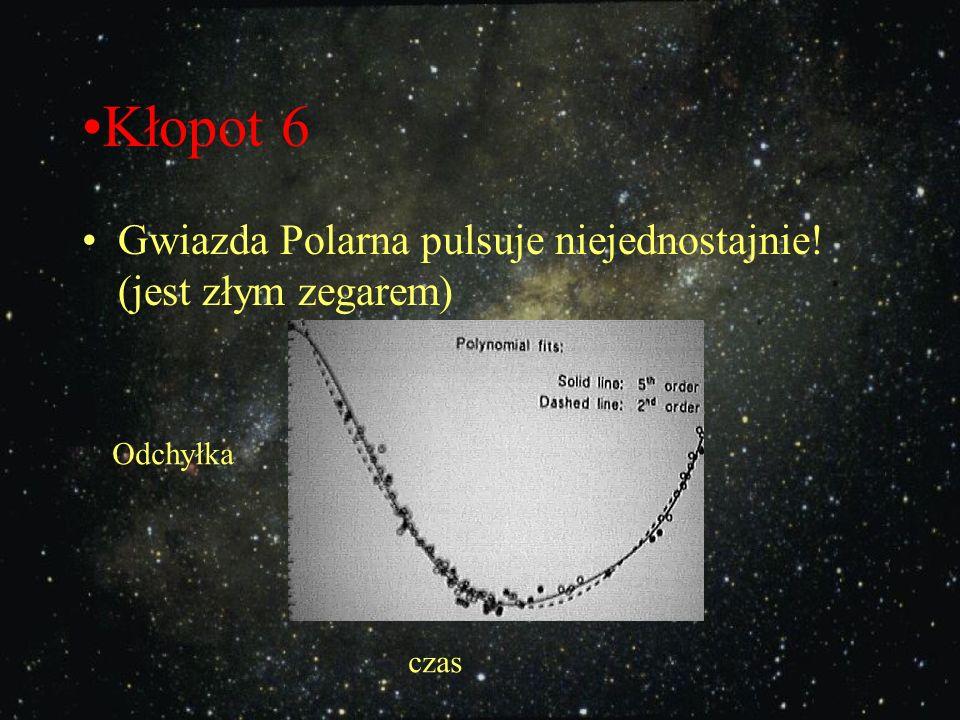 Kłopot 6 Gwiazda Polarna pulsuje niejednostajnie! (jest złym zegarem)