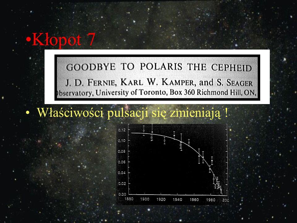 Kłopot 7 Właściwości pulsacji się zmieniają !
