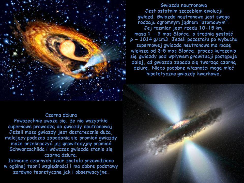 Gwiazda neutronowa Jest ostatnim szczeblem ewolucji gwiazd
