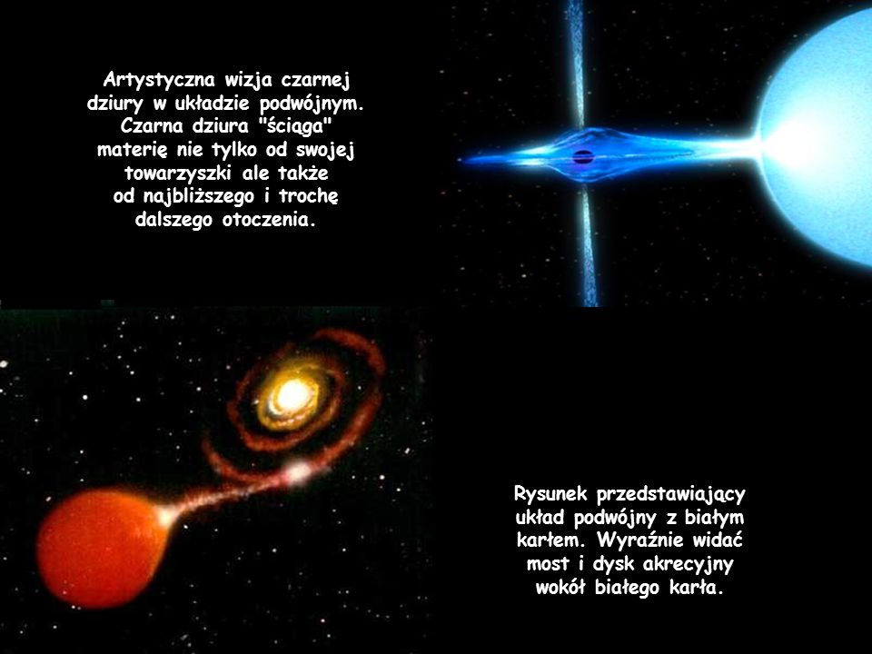 Artystyczna wizja czarnej dziury w układzie podwójnym