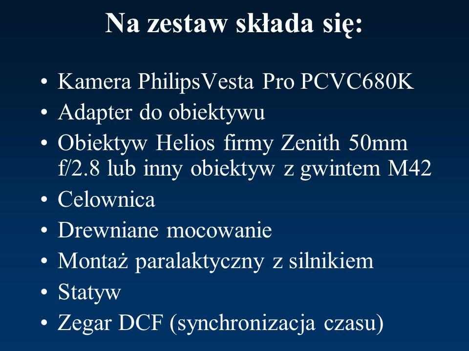 Na zestaw składa się: Kamera PhilipsVesta Pro PCVC680K