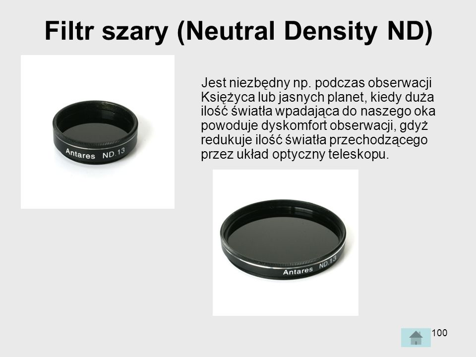 Filtr szary (Neutral Density ND)