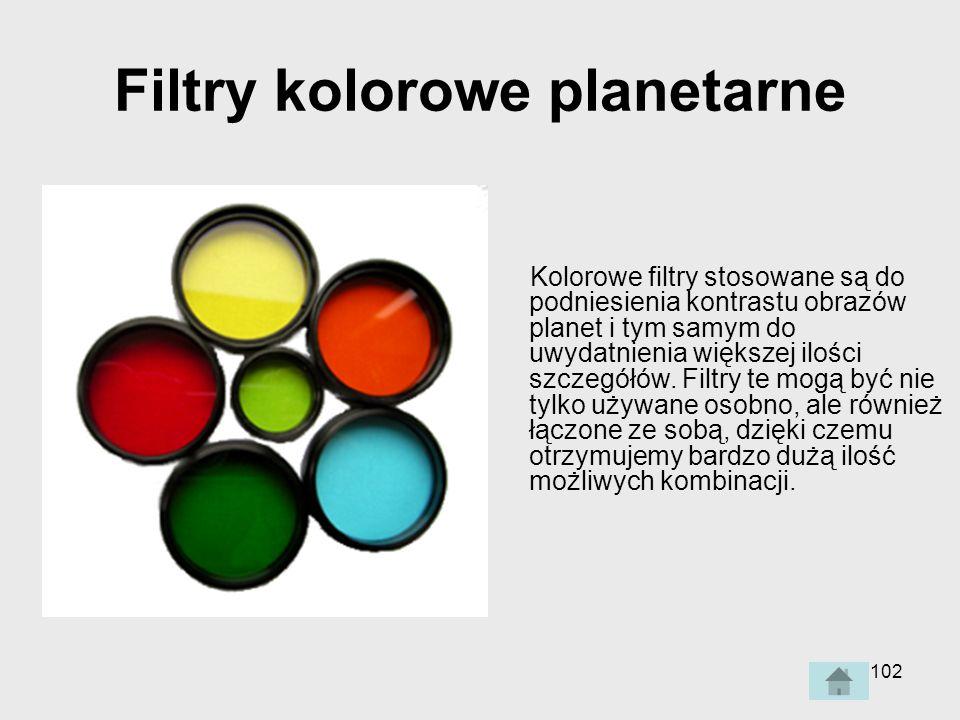 Filtry kolorowe planetarne