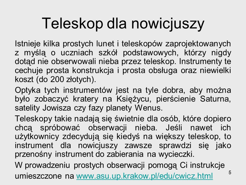 Teleskop dla nowicjuszy