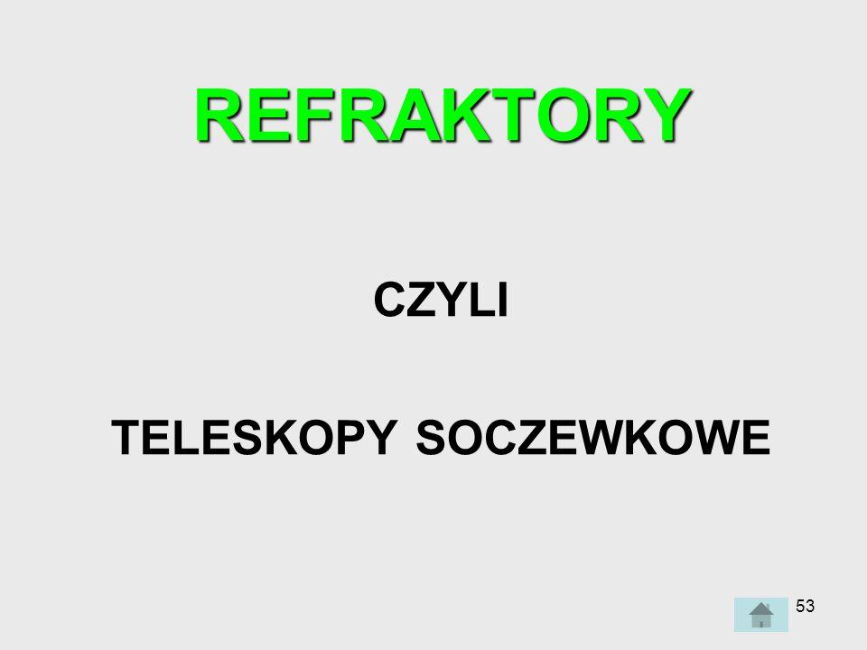 REFRAKTORY CZYLI TELESKOPY SOCZEWKOWE