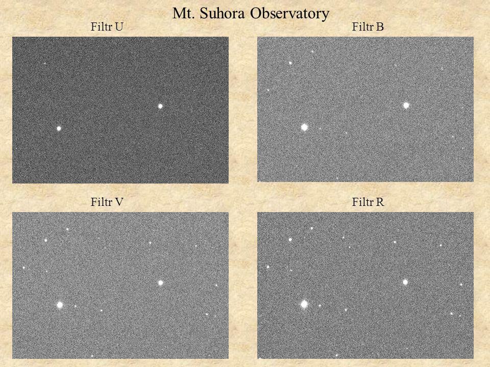 Mt. Suhora Observatory Filtr U Filtr B Filtr V Filtr R