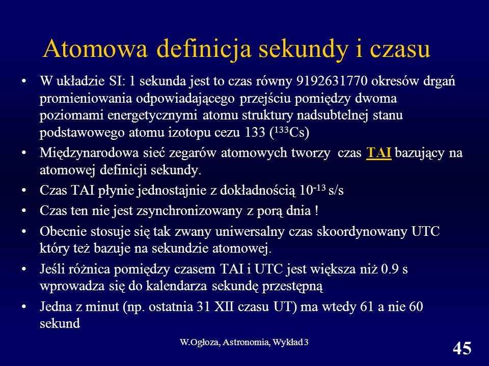 Atomowa definicja sekundy i czasu