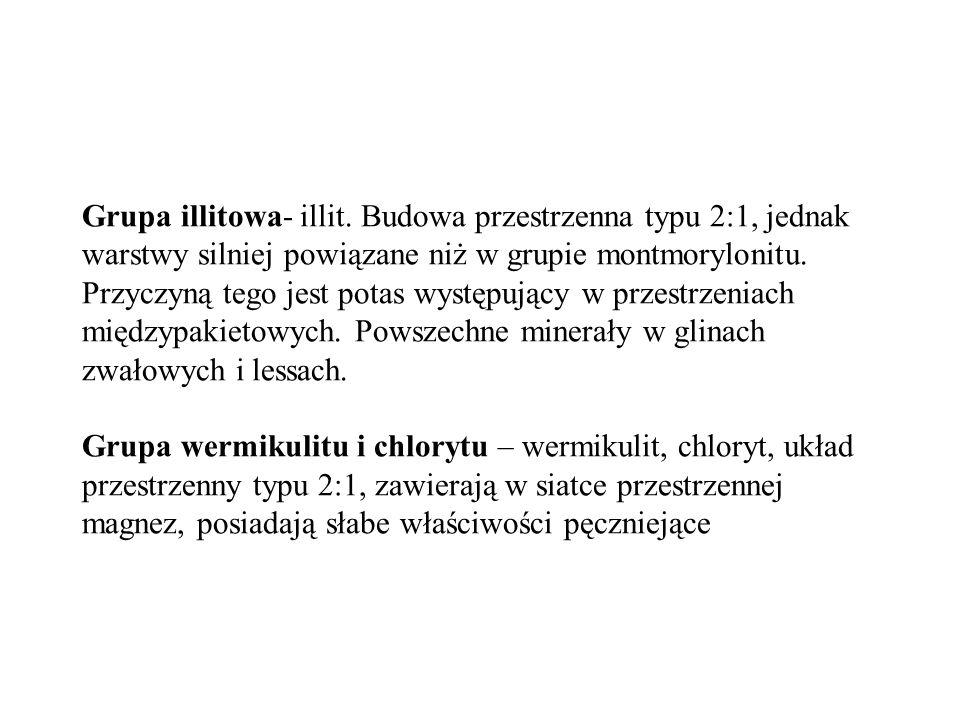 Grupa illitowa- illit.