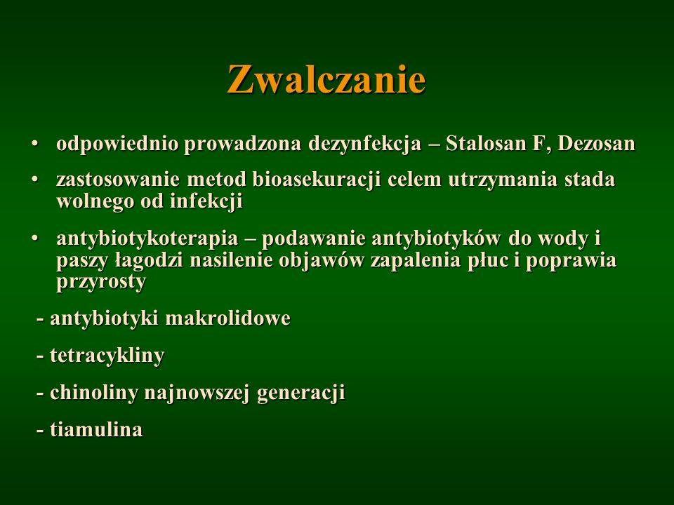 Zwalczanie odpowiednio prowadzona dezynfekcja – Stalosan F, Dezosan