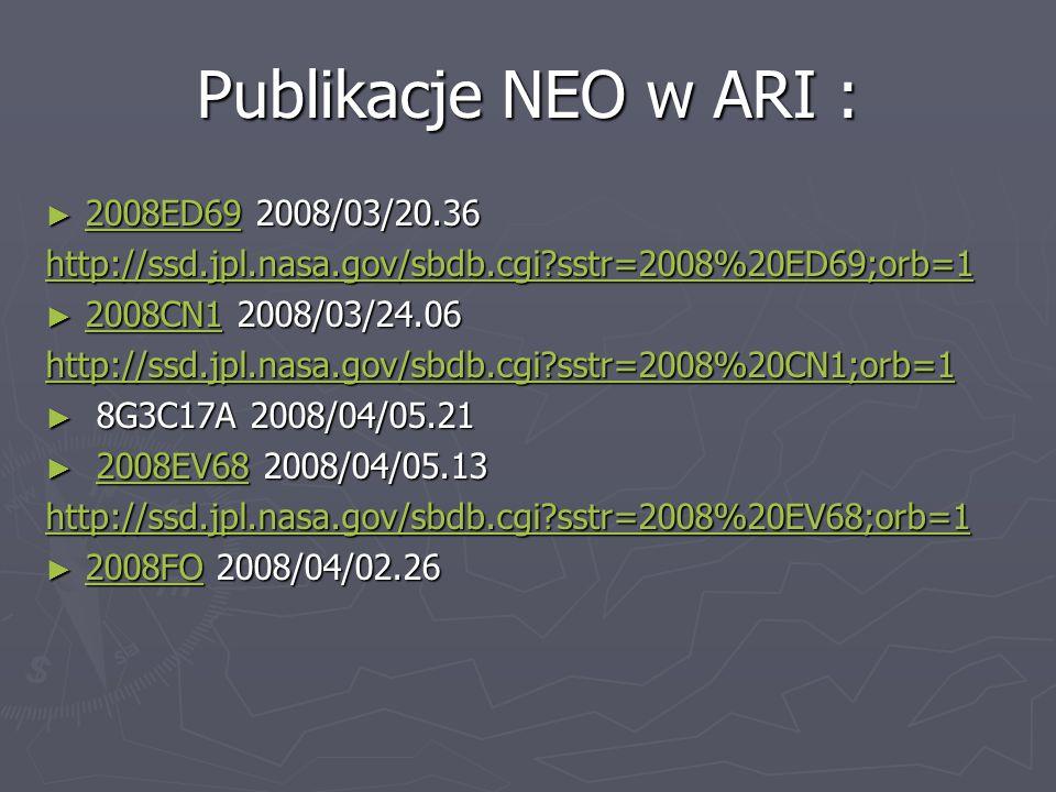 Publikacje NEO w ARI : 2008ED69 2008/03/20.36