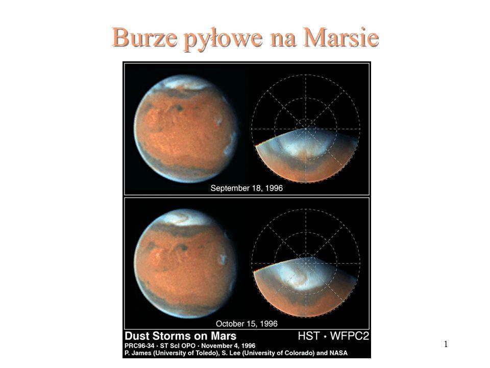 Burze pyłowe na Marsie