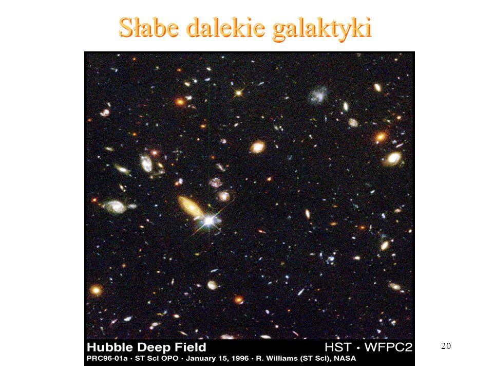 Słabe dalekie galaktyki