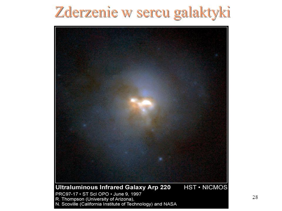 Zderzenie w sercu galaktyki