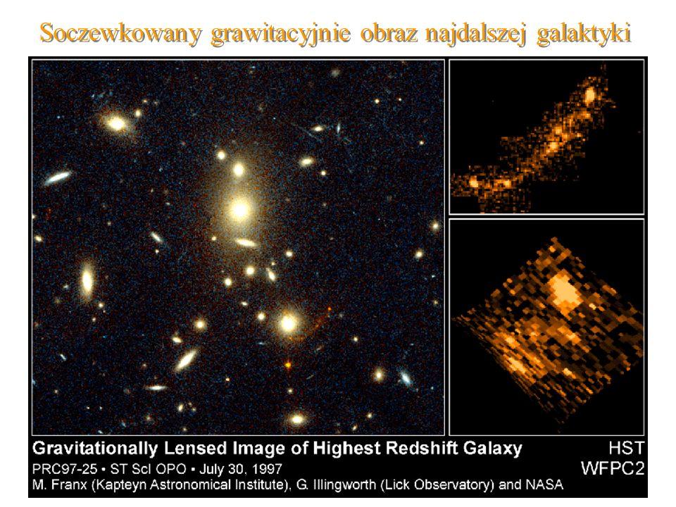 Soczewkowany grawitacyjnie obraz najdalszej galaktyki