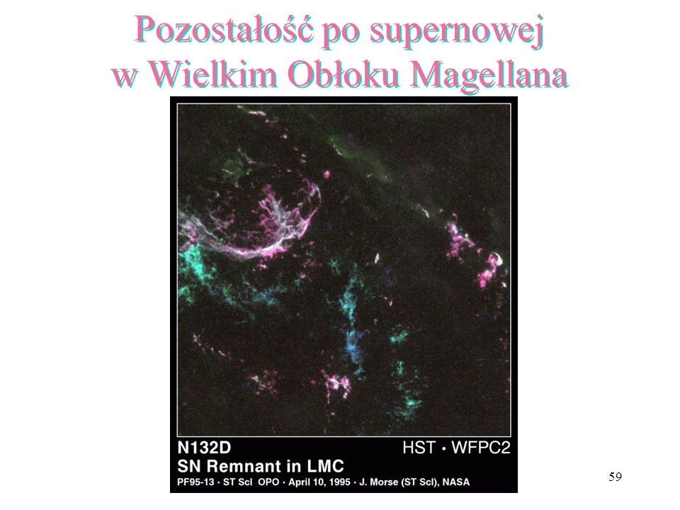 Pozostałość po supernowej w Wielkim Obłoku Magellana