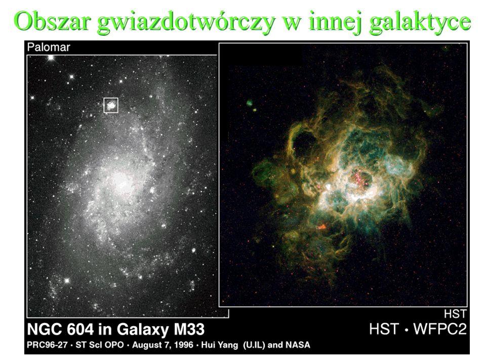 Obszar gwiazdotwórczy w innej galaktyce